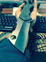Wholesale titanium cutter for sale - Crazy Field Cleaver Heavy Huge Tactical Hunting Folding Knife D2 Blade Titanium Gear Tool Camping Chopper Cutter Karambit