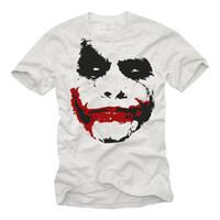 serbest boyut tişörtü toptan satış-YARASı ERKEKLER FILM T-GÖMLEK JOKER BASKı TASARıMı-KISA KOYU GEEK SÜPER KAHRAMAN TEE Boyutu Disko Sıcak Yeni Tshirt En Ücretsiz Kargo T-shirt