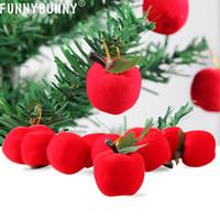 пена красное яблоко оптовых-Смешные 12 шт. Елочные украшения висит красные яблоки пены рождественские украшения ну вечеринку подарок