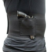 ingrosso pistole per fondine-Tactical Slim Wrap nascosto Carry Belly Band Pistol Holster Band Gun Holster 30-37 pollici