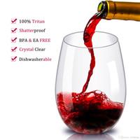 suco de frutas venda por atacado-Inquebrável Copo De Vinho De Plástico Inquebrável PCTG Copo de Vinho Tinto Copos Copos Reutilizáveis Transparente Suco De Frutas Copo De Cerveja
