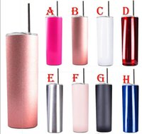 Wholesale christmas tumblers resale online - Stainless Steel Tumbler with Lids Rose Gold Insulated Wine Tumblers oz oz oz Coffee Mugs Stemless Wine Glass For Christmas Gift