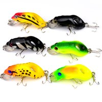 Wholesale plastic fishing lures frog for sale - Group buy 6 Color cm g Frog Hard Baits Lures Hook Fishing Hooks Fishhooks Artificial Plastic Bait Pesca Fishing Tackle Accessories