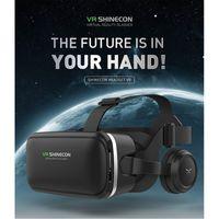 universal 3d vr al por mayor-HL VR / AR gafas 3D Glasses Vritual Realidad Shinecon caja 3D universales VR Auriculares para iPhone con el regulador d12