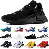 Wholesale human race runner boost running shoes for sale - Group buy NMD Human Race Trail Boost Running Shoes Men Women Pharrell Williams HU Runner Yellow Black White Mens Cheap Sport Sneakers Online Sale