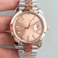 hebillas de anillos al por mayor-Reloj de lujo. Solo 41 mm. Esfera exterior de 18 quilates. Anillo exterior de oro. Reloj mecánico automático. Jubileo.