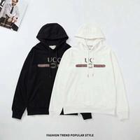 siyah uzun tişörtler toptan satış-Tasarımcı Uzun Kollu Hoodies Erkek siyah beyaz Tişörtü Hoodie moda Marka Üst T Shirt Sonbahar Bahar erkekler lüks giyim Boyutu M-2XL