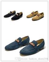 ingrosso abito da sera navy-Scarpe con fibbia in metallo per hombre slip-on da uomo Business Oxs shoes scarpe da homecoming famose scarpe da ginnastica in vera pelle