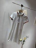 mélange de lin robes décontractées achat en gros de-Designer 2019 D'été Nouvelles Robes Femmes Casual Marque De Mode Femmes Tissu De Luxe Pure Couleur Cou Cou Cou Robe Douce Lin Mélange Taille Gratuit