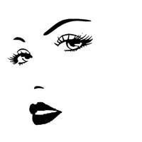 decalques para os lábios venda por atacado-Sexy girl lip eyes Beleza Temptation Car Body Stickers Decalques de Vinil Hobby Autocolante Para Carro