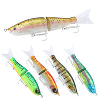 Wholesale lure bodies resale online - New Realistic Lipless Vivid Swimming Laser Swimbaits cm g Big Game Fishing two section Body Rubber fish tail Fishing Lure Hook