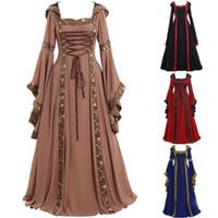 vestido de corte medieval venda por atacado-Novo estilo clássico bela bela corte medieval renascentista vestidos trajes de halloween roupas de palco elegante e charmoso vestido
