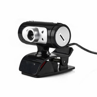 hd камера высокого разрешения оптовых-High Definition 1280*720 720p Pixel 4 LED HD Webcams Web Cam Camera With Night Lights Webcam Mic Clip-on For Computer #SYS