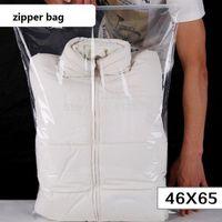 sacolas plásticas para cama venda por atacado-200 zíper de plástico transparente saco de quilt travesseiro cobertor cama sacos de embalagem / zíper saco de plástico transparente para colcha de sacos
