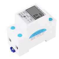amps meter großhandel-SINOTIMER Leistungsaufnahme Energie Watt Amp Volt Volt Analyzer KWh AC 230V Digitaler Stromverbrauch Monitor Wattmeter