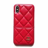 Wholesale new wristband phone online – New Luxury Wallet Case Phone Case for IphoneX XS XR XSMAX X Plus Plus sP s Designer Phone Case with Brand Wristband Kickstand