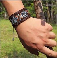 freundschaftsarmbänder wachsen großhandel-Wachsfaden Armbänder Woven Freundschaftsbänder Bunte Handgemachte Geflochtene Faden Armbänder für Handgelenk Knöchel