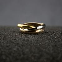 anillo de humor animal al por mayor-Las mujeres de varias capas delgados anillos de joyería de diseño de oro rosa anillo de boda de compromiso joyería