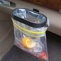 lixo automático venda por atacado-Durável Dobrável Bin Carro Bin Moldura Auto Balde de Lixo Auto Lixo de Armazenamento De Resíduos Organizador Titular Balde Saco Acessórios