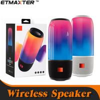boombox toptan satış-JBL Bluetooth Hoparlör Desteği TF Kart Kablosuz Taşınabilir LED Boombox Loud Subwoofer Açık Radyo perakende paketi ile