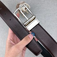 e84e8fdc6 Fashion Brand Belt Designer Belts Luxury Belts for Man Woman Sliver Needle  Buckle Black and Brown Optional Width 34mm High Quality with Box