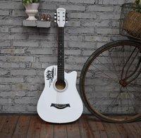 ventas directas de guitarra de fábrica al por mayor-Factory 38 pulgadas balada práctica piano estudiantes principiantes introducción a la guitarra de madera ventas directas de fábrica