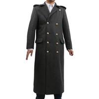 trajes de médico al por mayor-¿Quién es el doctor doctor Who 10 traje de cosplay traje largo gabardina traje de Halloween
