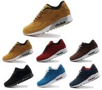 sapatos de inverno ao ar livre venda por atacado-90 Camurça Mens Designer de Tênis de Corrida Mulheres Casual Almofada de Ar Sapatilhas Sapatos de Esportes de Inverno Ao Ar Livre Presto Superstars Caminhadas Sapatos de corrida