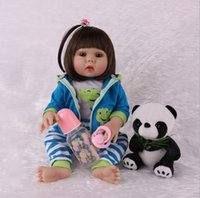 Wholesale lifelike baby dolls play for sale - Group buy Alive Vinyl Silicone Reborn Baby Dolls cm Lifelike Girl Toddler Bath Play Toys Cute Birthday Gifts