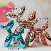 estatuas de amor al por mayor-¡¡¡Caliente!!! Producido de nueva Arte 30CM alta XL pop americano Arte de la resina Balloon Dog estatua de la figura globo regalo del amor del perro, regalo de Navidad