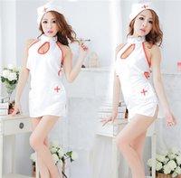 doutores sexy venda por atacado-Lingerie Sexy A tentação uniforme da enfermeira para atender o médico role-playing game paixão menina quente lingeries NB-760