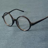 ingrosso black man nerd glasses-Cubojue Round Glasses Uomo Donna Occhiali da vista Frame Nero Trasparente Piccolo 43-58mm Occhiali da vista Nerd con lente