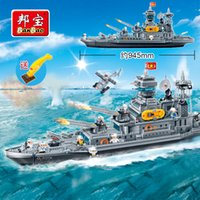 Wholesale military bricks toys resale online - BanBao Cruiser Carrier Military Army Building Blocks Compatible With other Educational Bricks Boy Kids Children Toy Model SH190915