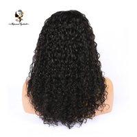 человеческий волос продажа оптовых-QDRapunzelHair онлайн продажа черный вьющиеся большой афро - американский парики человеческие волосы полный парик кружева