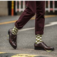 vestidos graciosos estampados al por mayor-Calcetines de hombres de gran tamaño, con estampados coloridos, vestido informal, calcetines de algodón para hombre, estilo divertido feliz sokken popsoket 2018