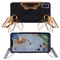 Wholesale gaming cases for sale - 2 in TPU PC Game Crab Phone Case For iPhone X Foldable Stand Phone Holder For Mobile Gaming