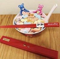 chopsticks satışları toptan satış-SUP Chopsticks Kırmızı Kutulu Chopsticks Moda Unisex 18SS Sıcak Satış Açık Piknik Kamp Kitchen Soğuk