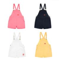 брюки для мальчиков мужские оптовых-INS Tinycotton Baby Toddler Girl's Boy's Cotton PP Pants Overalls Suspender Trousers Clothing 12M-7Y
