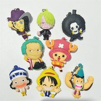 Wholesale one piece anime key for sale - Group buy One Piece Design Anime Keychain One Piece Keychain Keyring Decorative pendant Gift Children s Toys PVC Key chain
