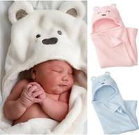 Wholesale kids robes resale online - Cute Animal Baby Bath Baby Blanket Bath Towel kids Bath Terry Children Infant Bathing baby Robe EEA1329