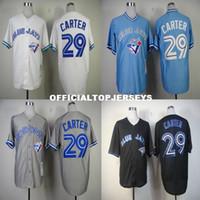 Wholesale discount sports jerseys resale online - Discount Men s Carter Retro Baseball Jersey Sports Jerseys Embroidery Logos Grey Black Blue jersey