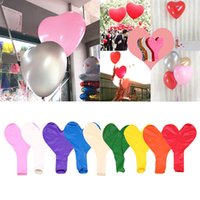 Wholesale purple white silver decorations for sale - 36 Inch Heart Latex Balloon Colors Love Shaped Large Giant Ball Valentine Wedding Party Decoration OOA6538