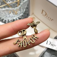 Wholesale selling brooches resale online - 2020 hot sell GEE4 earring Official website new arrival Little bee women birthday gift Irregularit popularbig brand earring