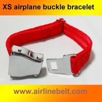 pulseras de avion al por mayor-Top clásico cinturón acero inoxidable SUS # 304 de mini aviones aerolínea asiento de avión hebilla de los hombres del brazalete de manera regalo de la señora envío libre