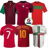 Wholesale 1998 Retro Portugal Soccer Jersey RUI COSTA FIGO RONALDO Football Shirts Camisetas de fútbol Uniforms S XXL
