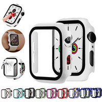 Wholesale 360 Full Screen Protector Frame PC Hard Case With Tempered Glass Film for Apple Watch Cover for iWatch mm mm mm mm
