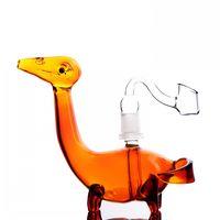 ingrosso olio bong animale-Animal Heady Bong in vetro Mini Dab Rigs Narghilè Bong Water Pipes Glass Oil Rigs Bong unico con 14mm Banger 5.9 ''