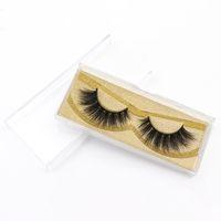Wholesale good natural false eyelashes for sale - Group buy False Eyelashes Good Quality Private Label D natural Mink Eyelashes