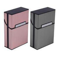 puro hediye kutuları toptan satış-Sigara Sigaralar Alüminyum Sigara Durumda Puro Tütün Tutucu Cep Kutusu Saklama Kabı Hediye Kutusu Sıcak Satış GB278