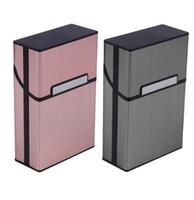 ingrosso case in alluminio per la vendita-Sigarette di fumo Alluminio Porta sigarette Sigaro Tabacco Titolare Pocket Box Contenitore di immagazzinaggio Confezione regalo Vendita calda GB278
